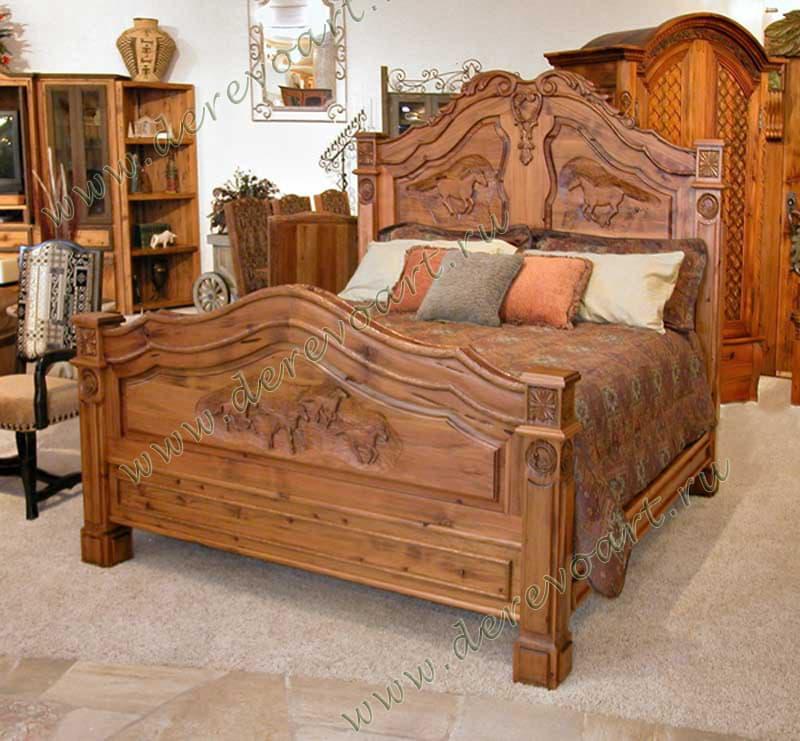кровати из дерева красивое фото